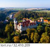 Купить «Zleby Castle, Central Bohemian Region», фото № 32410209, снято 14 октября 2019 г. (c) Яков Филимонов / Фотобанк Лори
