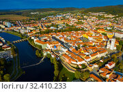 Czech town Pisek in South Bohemia (2019 год). Стоковое фото, фотограф Яков Филимонов / Фотобанк Лори