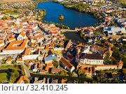Купить «Historical area of Czech town of Jindrichuv Hradec», фото № 32410245, снято 12 октября 2019 г. (c) Яков Филимонов / Фотобанк Лори