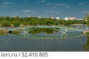 Bridge across the Middle Pond in Museum-Reserve Tsaritsyno (2012 год). Редакционное фото, фотограф Алексей Голованов / Фотобанк Лори