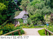 Literatur Haus, Alter Botanische Garten, Old Botanical Garden,  Schleswig-Holstein, Kiel, Germany, Europe. Стоковое фото, фотограф Николай Коржов / Фотобанк Лори