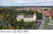 Купить «cityscape on autumn day, South Bohemian Region, Czech Republic», видеоролик № 32421941, снято 11 октября 2019 г. (c) Яков Филимонов / Фотобанк Лори