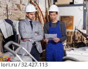 Builder is not agree with terms of cooperation. Стоковое фото, фотограф Яков Филимонов / Фотобанк Лори