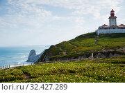 Lighthouse at Cabo da Roca, Portugal (2019 год). Стоковое фото, фотограф Яков Филимонов / Фотобанк Лори