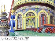 Купить «Храм всех религий в посёлке Старое Аракчино в Татарстане», эксклюзивное фото № 32429781, снято 4 января 2018 г. (c) stargal / Фотобанк Лори