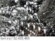 Abfall Metallspäne in der Metall Industrie. Стоковое фото, фотограф Zoonar.com/Erwin Wodicka / age Fotostock / Фотобанк Лори