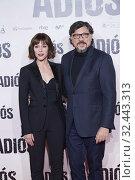 Carlos Bardem, Ruth Diaz attends 'Adios' premiere at Capitol Cinema on November 19, 2019 in Madrid, Spain. Редакционное фото, фотограф Manuel Cedron / age Fotostock / Фотобанк Лори