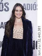 Clarisse Alves attends 'Adios' premiere at Capitol Cinema on November 19, 2019 in Madrid, Spain. Редакционное фото, фотограф Manuel Cedron / age Fotostock / Фотобанк Лори