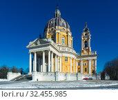 Image of baroque Basilica di Superga church on the Turin (2017 год). Стоковое фото, фотограф Яков Филимонов / Фотобанк Лори