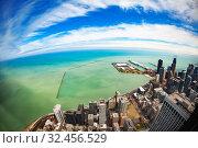 Chicago downtown towards Navy Pier and Michigan (2018 год). Стоковое фото, фотограф Сергей Новиков / Фотобанк Лори