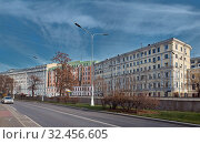 Panoramic view of Nikitsky Boulevard in the center of the city (2019 год). Редакционное фото, фотограф Алексей Голованов / Фотобанк Лори