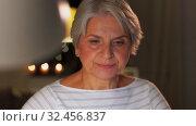 Купить «senior woman with laptop drinking coffee at home», видеоролик № 32456837, снято 18 ноября 2019 г. (c) Syda Productions / Фотобанк Лори