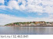 View of the city of Nizhny Novgorod from the river, Russia (2019 год). Стоковое фото, фотограф Дмитрий Тищенко / Фотобанк Лори