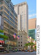 Купить «Fifth Avenue landmarks. New York City, USA», фото № 32472529, снято 11 мая 2019 г. (c) Валерия Попова / Фотобанк Лори