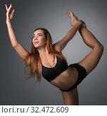 Купить «Image of beautiful girl posing gracefully dancing», фото № 32472609, снято 18 сентября 2016 г. (c) Гурьянов Андрей / Фотобанк Лори