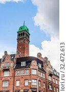 Building is situated on City Hall Square in Copenhagen, Denmark. Стоковое фото, фотограф Николай Коржов / Фотобанк Лори