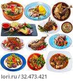 Купить «Collection of mutton meals», фото № 32473421, снято 29 мая 2020 г. (c) Яков Филимонов / Фотобанк Лори