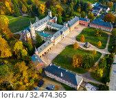 Купить «Aerial view of Sychrov Castle, Czech Republic», фото № 32474365, снято 18 октября 2019 г. (c) Яков Филимонов / Фотобанк Лори