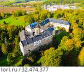 Купить «Zbiroh castle, Pilsen Region, Czech Republic», фото № 32474377, снято 10 октября 2019 г. (c) Яков Филимонов / Фотобанк Лори