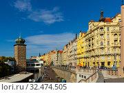 Купить «Beautiful view of the embankment of the Vltava river. Prague. Czech Republic», фото № 32474505, снято 11 декабря 2019 г. (c) Яков Филимонов / Фотобанк Лори