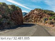 Straße mit Kurve im Gebirge von Gran Canaria, Spanien. Стоковое фото, фотограф Zoonar.com/Robert Kneschke / age Fotostock / Фотобанк Лори