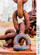 Eine Verrostete Eisenkette, Symbol für Zerfall, altern, Vergänglichkeit, altes Eisen. Стоковое фото, фотограф Zoonar.com/Erwin Wodicka / age Fotostock / Фотобанк Лори