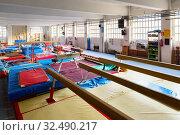 Various gymnastic equipment at acrobatic center. Стоковое фото, фотограф Яков Филимонов / Фотобанк Лори