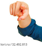 Hand zeigt zur Motivation mit dem Zeigefinger. Стоковое фото, фотограф Zoonar.com/Robert Kneschke / age Fotostock / Фотобанк Лори