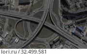 Купить «Ring road Cars Traffic in European City, Bridge Viaduct, Drone shot», видеоролик № 32499581, снято 3 октября 2019 г. (c) Aleksejs Bergmanis / Фотобанк Лори