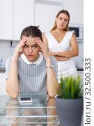 Quarrel between two girls friends. Стоковое фото, фотограф Яков Филимонов / Фотобанк Лори