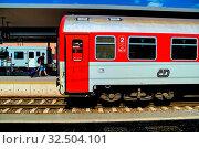 Zug zweiter Klasse, Symbol, für Reisen, Transport, Komfort. Стоковое фото, фотограф Zoonar.com/Erwin Wodicka / age Fotostock / Фотобанк Лори