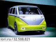 Купить «Volkswagen I.D.Buzz», фото № 32508821, снято 17 сентября 2019 г. (c) Art Konovalov / Фотобанк Лори