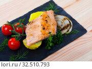 Купить «Roasted tender trout fillet», фото № 32510793, снято 5 декабря 2019 г. (c) Яков Филимонов / Фотобанк Лори
