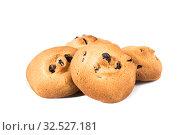 Купить «Печенье  изолированно на белом фоне», фото № 32527181, снято 7 июля 2019 г. (c) Литвяк Игорь / Фотобанк Лори