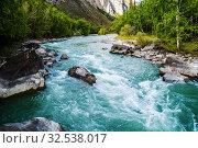 Купить «Behemoth River Rapid on the Chuya River, Mountain Altai, Russia», фото № 32538017, снято 13 сентября 2019 г. (c) Вадим Орлов / Фотобанк Лори
