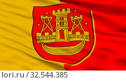 Купить «Klaipeda City Flag, Country Lithuania, Closeup View, 3D Rendering», фото № 32544385, снято 11 июля 2020 г. (c) easy Fotostock / Фотобанк Лори
