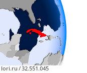 Купить «El Salvador in red on model of political globe with transparent oceans. 3D illustration.», фото № 32551045, снято 8 декабря 2019 г. (c) easy Fotostock / Фотобанк Лори
