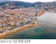 Aerial view of Roses, Catalonia, Spain (2019 год). Редакционное фото, фотограф Яков Филимонов / Фотобанк Лори