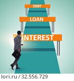 Купить «Concept of debt and loan in business running», фото № 32556729, снято 10 декабря 2019 г. (c) Elnur / Фотобанк Лори
