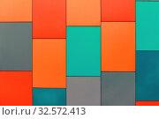 Купить «Wall from multi-colored panels background.», фото № 32572413, снято 9 марта 2017 г. (c) Акиньшин Владимир / Фотобанк Лори