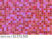 Купить «Mosaic tiles on the facade of the house.», фото № 32572505, снято 23 июня 2017 г. (c) Акиньшин Владимир / Фотобанк Лори