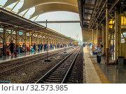 Купить «Passenger at the Bangkok railway station Hua Lamphong», фото № 32573985, снято 7 июля 2020 г. (c) age Fotostock / Фотобанк Лори