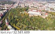Купить «Above view of medieval castle Spilberk. City of Brno. South Moravian region. Czech Republic», видеоролик № 32581609, снято 15 октября 2019 г. (c) Яков Филимонов / Фотобанк Лори
