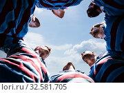 Купить «Composite image of rugby players», фото № 32581705, снято 8 декабря 2019 г. (c) Wavebreak Media / Фотобанк Лори