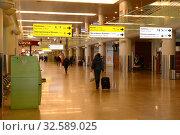 Купить «Пассажиры в терминале международного аэропорта Шереметьево города Москвы», фото № 32589025, снято 24 ноября 2015 г. (c) Free Wind / Фотобанк Лори