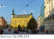 Купить «Svoboda Square in Brno, Czech Republic», фото № 32590213, снято 10 декабря 2019 г. (c) Яков Филимонов / Фотобанк Лори