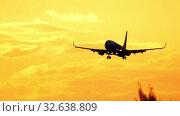 Купить «Airplane Boeing 737 approaching», видеоролик № 32638809, снято 26 ноября 2019 г. (c) Игорь Жоров / Фотобанк Лори