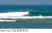 Купить «Waves on Coral Reef», видеоролик № 32638813, снято 8 декабря 2019 г. (c) Игорь Жоров / Фотобанк Лори