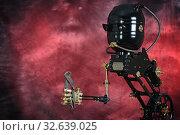 Механический робот в стиле стимпаенк с кусачками. Стоковое фото, фотограф Валерий Александрович / Фотобанк Лори