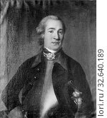 Johan Henrik Scheffel, Lars Reinhold von Köhler, 1730-1771, painting, portrait, Oil, Height, 78 cm (30.7 inches), Width, 65 cm (25.5 inches) (2019 год). Редакционное фото, фотограф ARTOKOLORO QUINT LOX LIMITED / age Fotostock / Фотобанк Лори